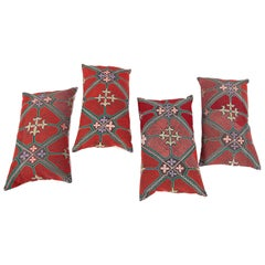 Pillow / Cushion Covers Fashioned from a Midcentury Kyrgyz Tush Kiz Embroidery