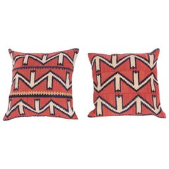 Pillow / Cushion Covers Made from an Antique Kuba Kilim, 19th Century