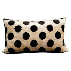 Pillow Handmade in Ikat Fabric Uzbekistan 1990