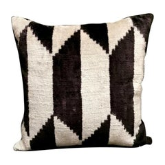 Pillow Handmade In Ikat Fabric Uzbekistan, 1990