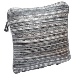 Pillow in Woven Snakeskin by Kifu Paris