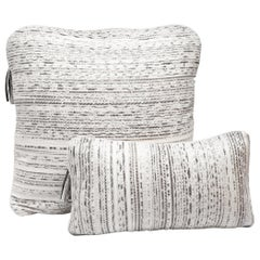 Pillow Set in Woven Snakeskin by Kifu, Paris