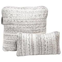 Pillow Set in Woven Snakeskin by Kifu, Paris