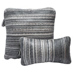 Pillow Set in Woven Snakeskin by Kifu Paris