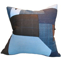 Pillow with Vintage Chinese and Japanese Patchwork