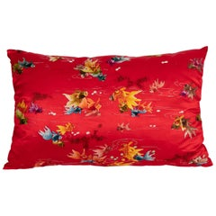 Pillowcase Made from a Vintage Asian Embroidery, Mid-20th Century