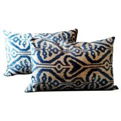 Pillows Handmade in Ikat Silk Fabric on Both Sides Uzbekistan