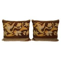 Antique English Needlepoint Pillows