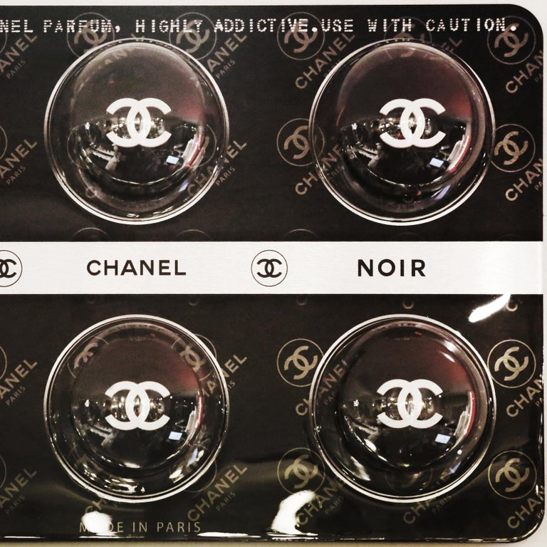 Dutch Pills Chanel Black Panel Limited Edition For Sale