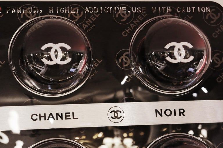 Hand-Crafted Pills Chanel Black Panel Limited Edition For Sale
