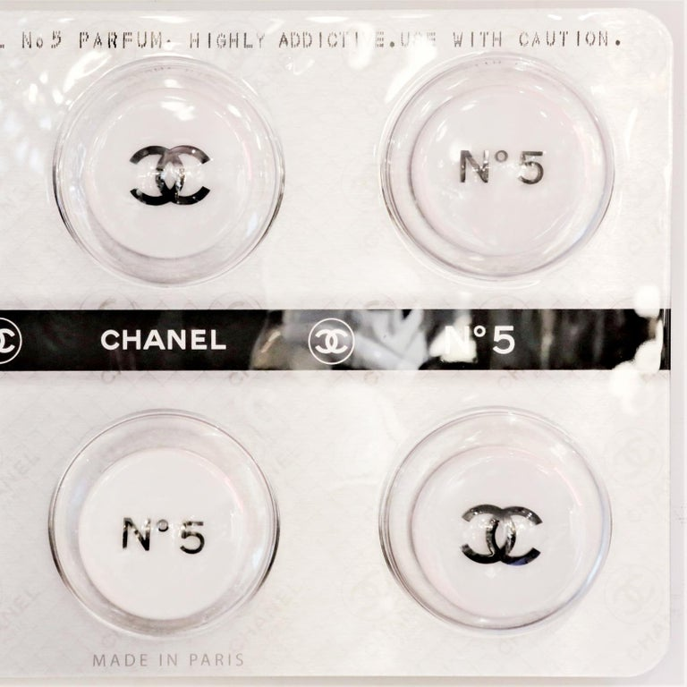 Panel Pills Chanel white, limited edition. Wall decoration.