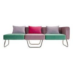 Pills Sofa by Simone Micheli in Gray and Green