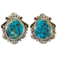 Pilot Mountain Turquoise and Sterling Earrings
