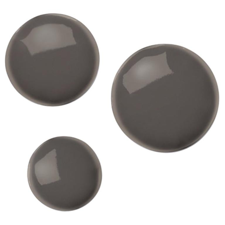 Pin 3 Set Polished Beige Grey Color Carbon Steel Hanger by Zieta For Sale
