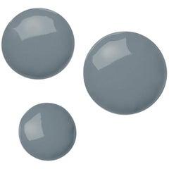 Pin 3 Set Polished Blue Grey Color Carbon Steel Hanger by Zieta