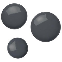 Pin 3 Set Polished Graphite Grey Color Carbon Steel Hanger by Zieta