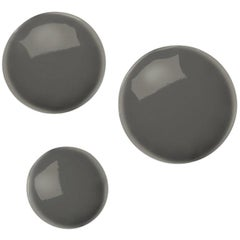Pin 3 Set Polished Moss Grey Color Carbon Steel Hanger by Zieta