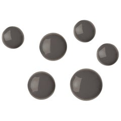Pin 6 Set Polished Beige Grey Color Carbon Steel Hanger by Zieta