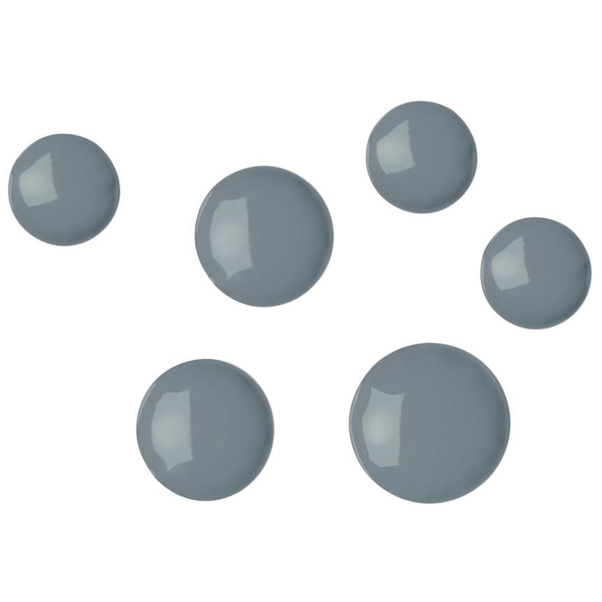 Pin 6 Set Polished Blue Grey Color Carbon Steel Hanger by Zieta