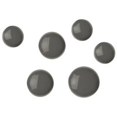 Pin 6 Set Polished Moss Grey Color Carbon Steel Hanger by Zieta
