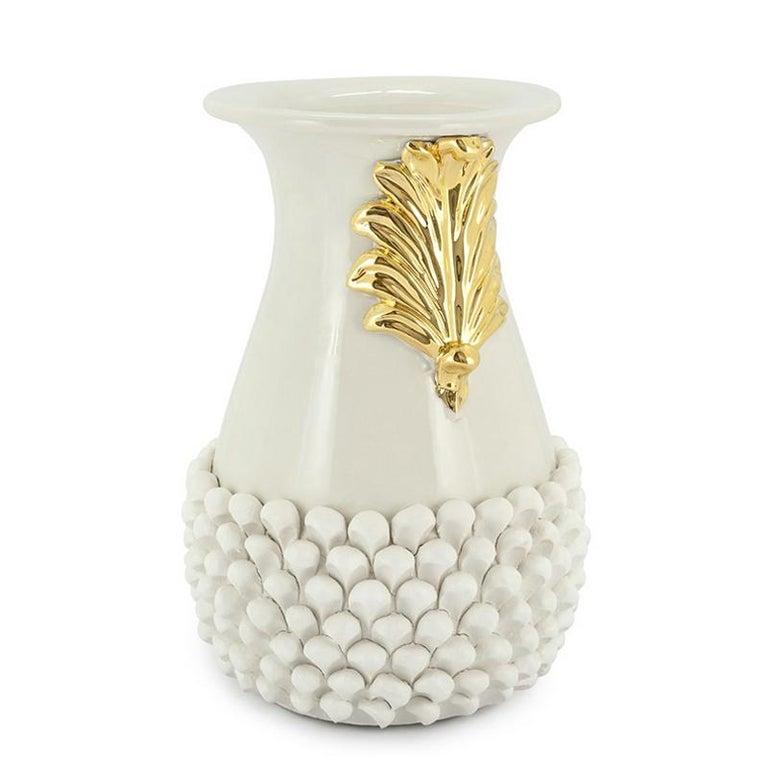 Pin Ceramic Black or White Vase In New Condition For Sale In Paris, FR