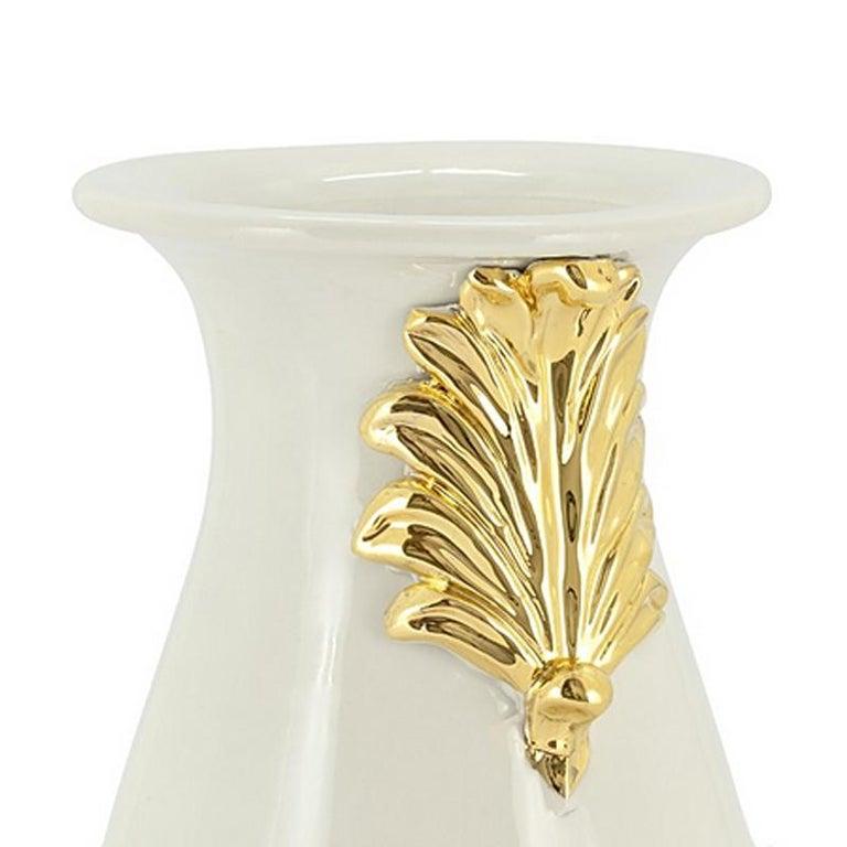 Contemporary Pin Ceramic Black or White Vase For Sale