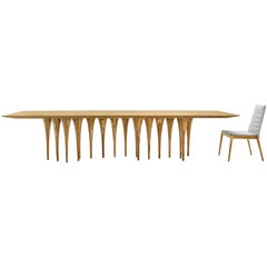 Pin Dining Table in Teak with 12 legs