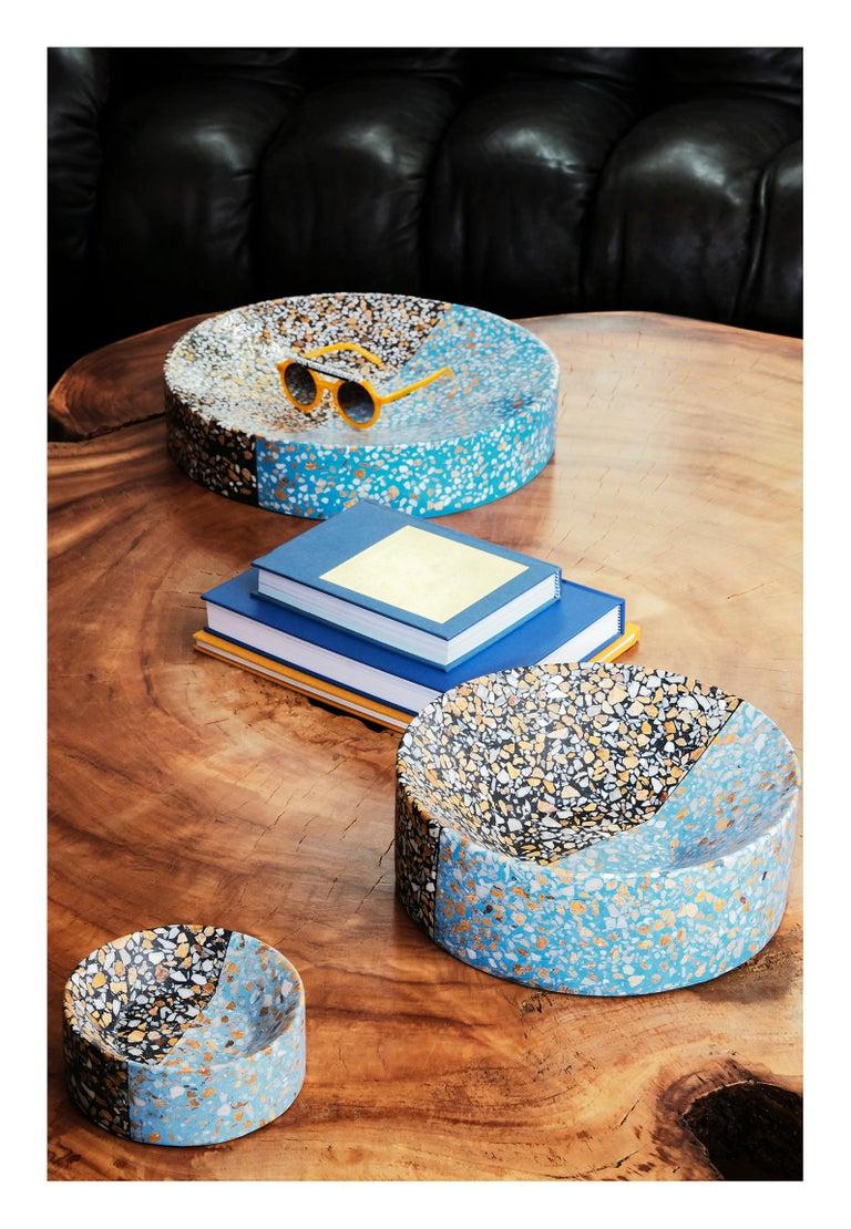 Modern Pin Tray / Ashtray Pink Terrazzo Stone Contemporary Style 'Mini' For Sale