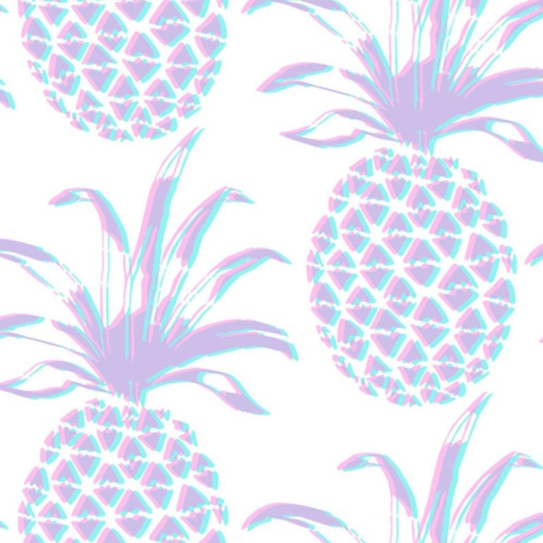 Piña lets you experience a pineapple print in a new dimension. These pineapples have a 3D/doubling effect and are twice the size of the pineapples in our Piña Sola pattern.  Samples are available for $18 including US shipping, please message us to