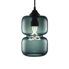 Pinch Chroma Storm Handblown Modern Glass Pendant Light, Made in the USA
