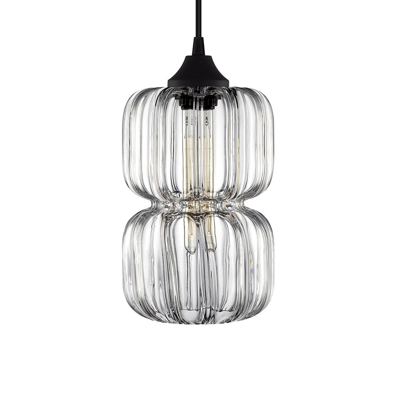 Pinch Prisma Gray Handn Modern Gl Pendant Light Made In The Usa