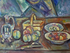 Still Life with Basket, Jug and Fruits
