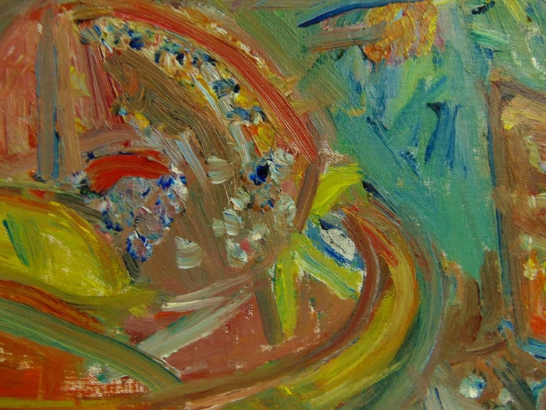 Still Life with Fruits and Flowers  - Expressionist Painting by Pinchus Kremegne