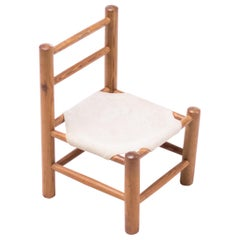 Pine and Canvas Child's Chair