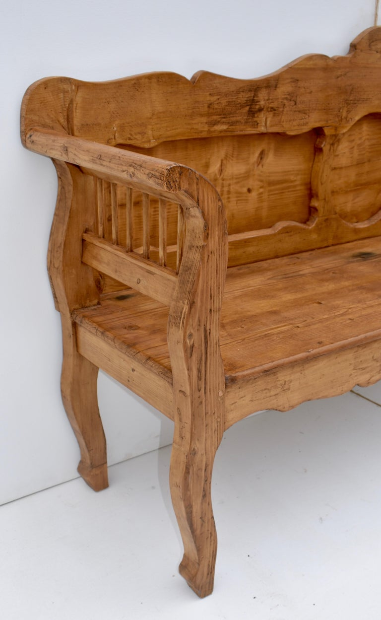 Pine and Oak Bench or Settle 3