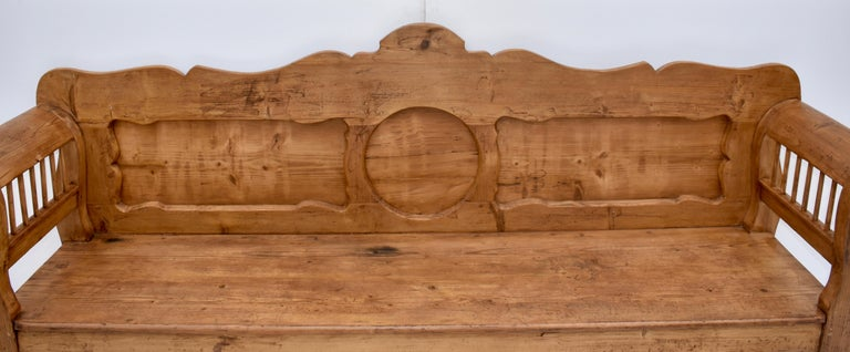 Pine and Oak Bench or Settle 4