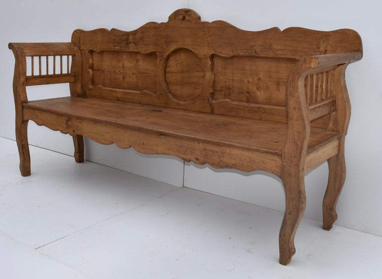 Country Pine and Oak Bench or Settle
