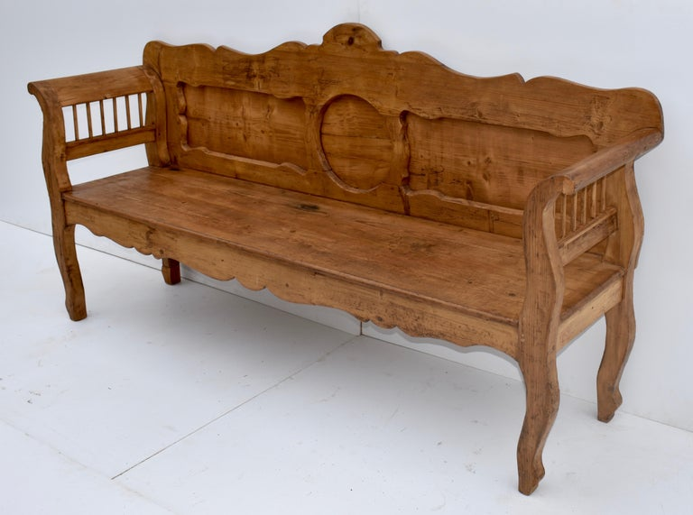 Hungarian Pine and Oak Bench or Settle