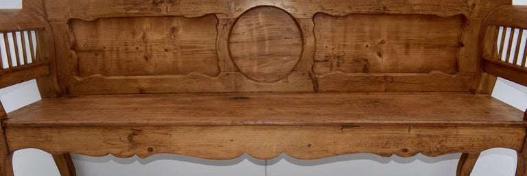 19th Century Pine and Oak Bench or Settle