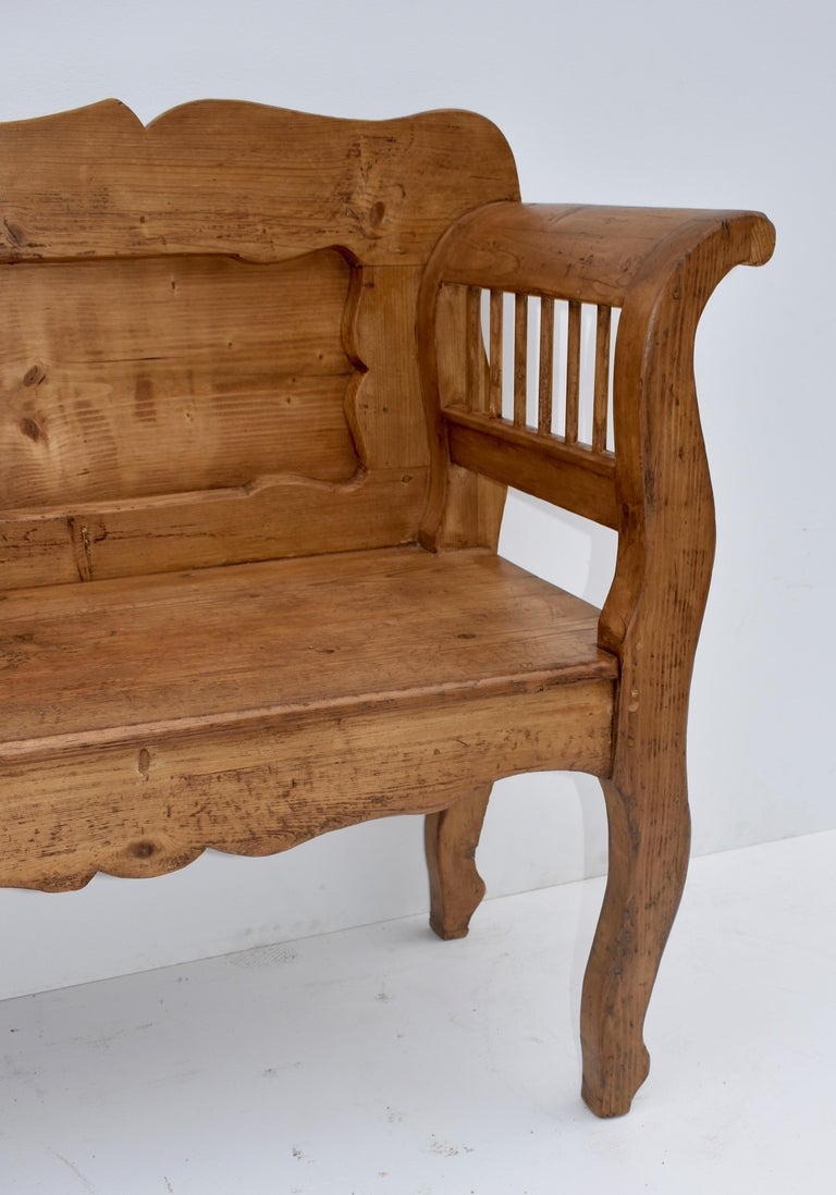 Pine and Oak Bench or Settle 1