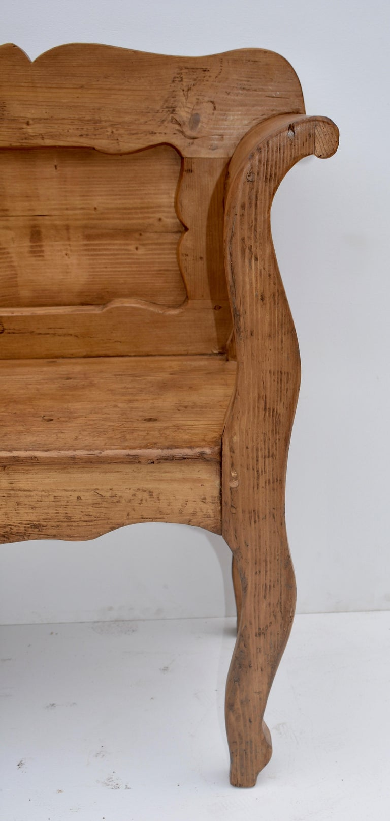 Pine and Oak Bench or Settle 2