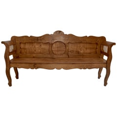 Pine and Oak Bench or Settle