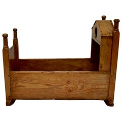 Pine and Oak Rocking Cradle
