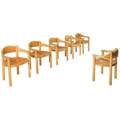 Pine Armchairs by Rainer Daumiller