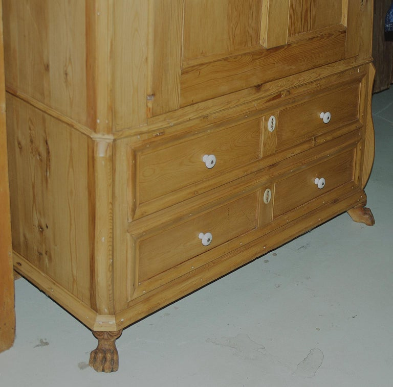 Pine Armoire w/ Single Door & Two Drawers, Denmark, c. 1835 For Sale 5