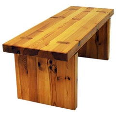 Pine Bench in the Style of Roland Wilhelmsson, Sweden, 1970s