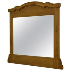 Pine Beveled Glass Over-Mantle or Wall Mirror