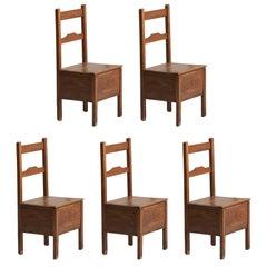 Pine Box Seat Chairs, circa 1880
