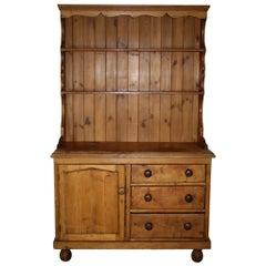 Pine Cupboard Hutch, circa 1900