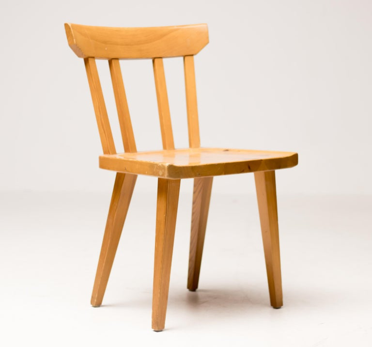 Pine Dining Set by Carl Malmsten For Sale 6